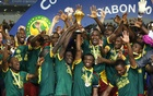 Players of Cameroon celebrate with the trophy after winning the African Nations Cup on Feb 5. Reuters​
