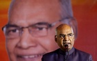 Ram Nath Kovind, nominated presidential candidate of India's ruling Bharatiya Janata Party (BJP), delivers a speech during a welcoming ceremony as part of his nation-wide tour, in Ahmedabad, India, July 15, 2017. Reuters