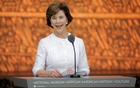 Laura Bush served as the first lady of the US from 2001 to 2009 during the administration of her husband George W Bush. Reuters file photo