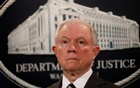 US Attorney General Jeff Sessions looks during a news conference announcing the outcome of the national health care fraud takedown at the Justice Department in Washington, US, Jul 13, 2017. Reuters