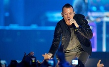 FILE PHOTO: Chester Bennington of the band Linkin Park performs during the second day of the 2012 iHeartRadio Music Festival at the MGM Grand Garden Arena in Las Vegas, Nevada September 22, 2012.