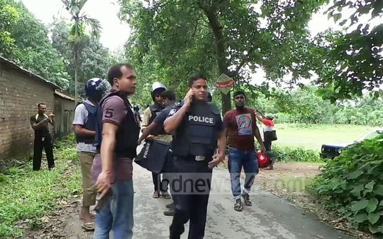 Police launched an anti-terror on a Meherpur house owned by a Saudi expatriate on Saturday.