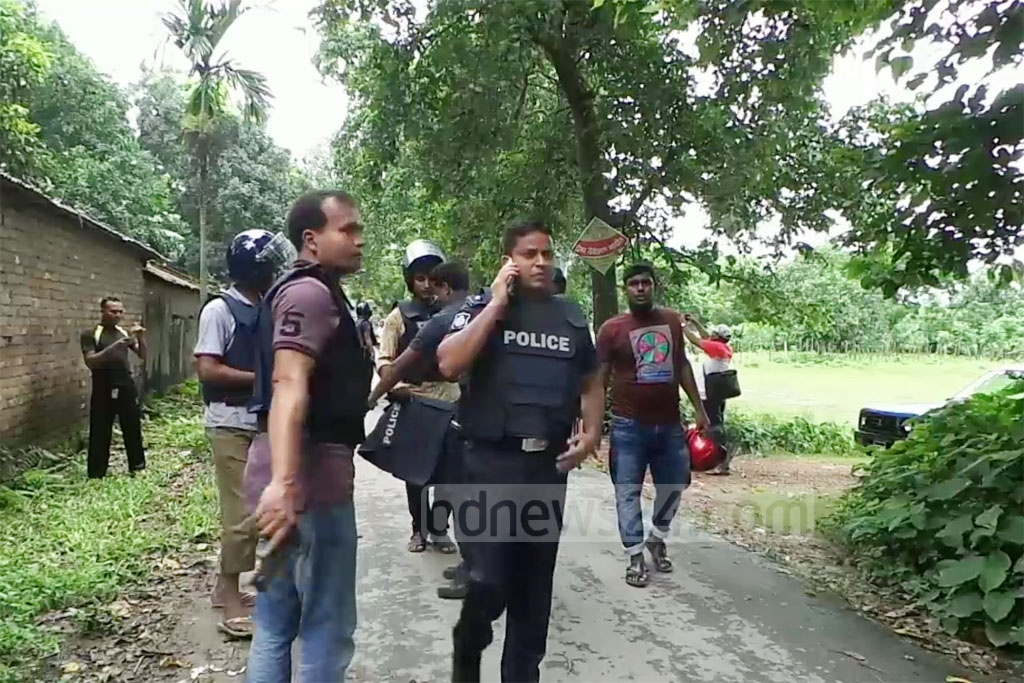 Police launched a anti-terror on a Meherpur house owned by a Saudi expatriate on Saturday.