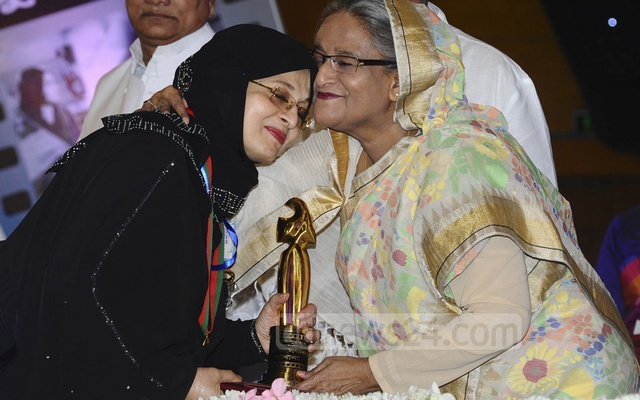 Shabana had received the national award as best actress several times in the past. She has now received a lifetime achievement award for her contribution to the Bangla film industry on Monday. Photo: Yeasin Kabir Joy