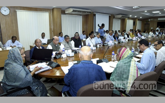 Prime Minister Sheikh Hasina chairs a cabinet meeting at the Bangladesh Secretariat on Monday. Photo: Saiful Islam Kallol