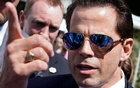 White House Communications Director Anthony Scaramucci talks to the media outside the White House in Washington, U.S., July 25, 2017 Reuters