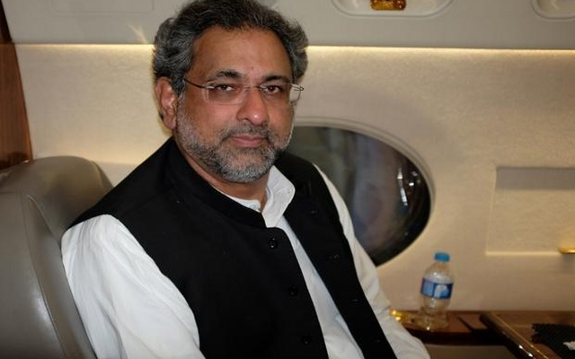 FILE PHOTO: Pakistan's former Petroleum Minister Shahid Khaqan Abbasi poses for a photo during an interview with Reuters in Jhang, Pakistan July 7, 2017. Reuters