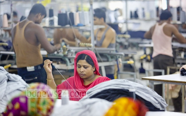 The apparel sector in Bangladesh has seen impressive growth over the years accounting for more than 80 percent of the total exports earnings of the country. File photo: asaduzzaman pramanik