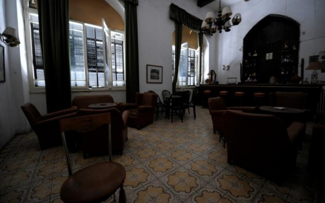 A view shows the interior of the Baron Hotel in Aleppo, Syria July 14, 2017.