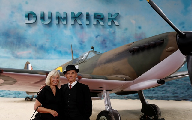Actor Mark Rylance and his wife Claire van Kampen arrive for the world premiere of Dunkirk in London, Britain, Jul 13, 2017. Reuters