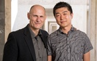 Juan Carlos Izpisua Belmonte, Professor at Salk Institute's Gene Expression Laboratory and Jun Wu, Salk staff Scientist are pictured in this handout photo obtained by Reuters, Augt 2, 2017. Salk Institute/Handout via Reuters