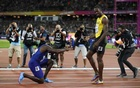 Gatlin stuns Bolt to win 100m world title