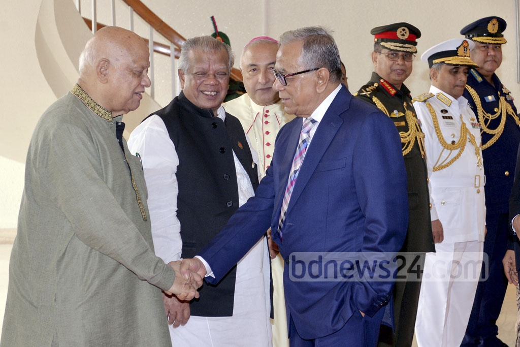 President Md Abdul Hamid left Dhaka for Singapore for treatment of his eyes and regular medical checkup on Sunday. Ministers AMA Muhith and Amir Hossain Amu were among others who saw the president off at Shahjalal International Airport.