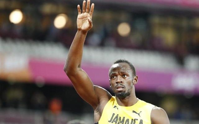 Athletics - World Athletics Championships – men's 100 metres final – London Stadium, London, Britain – August 5, 2017 – Usain Bolt of Jamaica gestures. Reuters