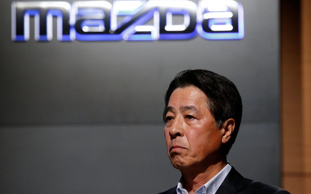 Mazda Motor President Masamichi Kogai attends a news conference in Tokyo, Japan August 8, 2017. Reuters