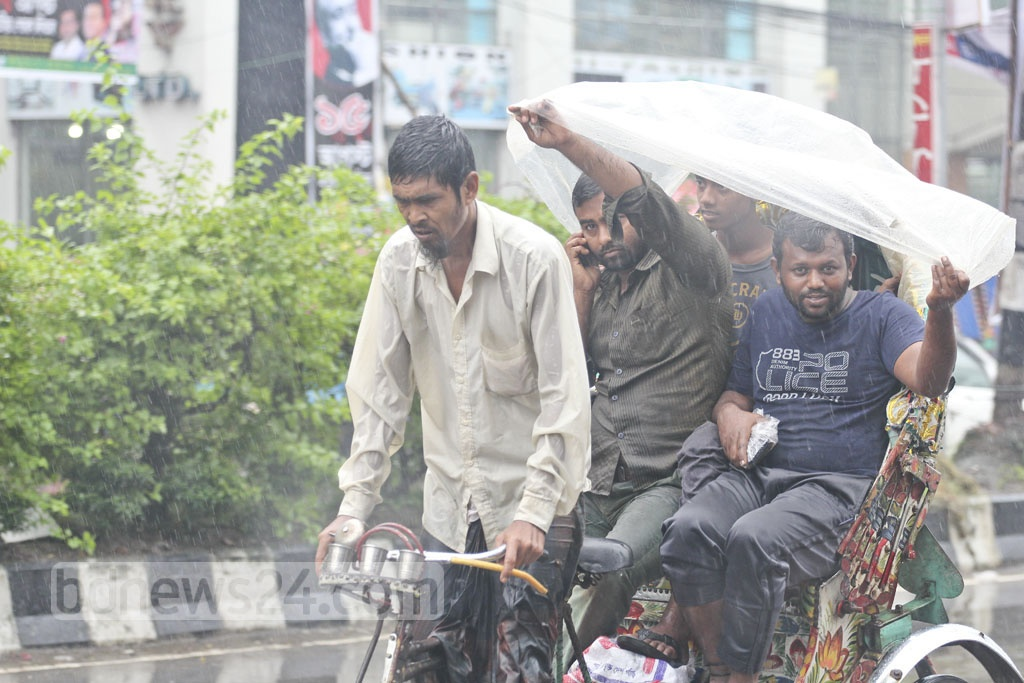 The day-long drizzle and rains on Saturday made life miserable for the residents of the capital, Dhaka. Shraban, the last month of the rainy season in Bangla calendar, is out to leave its mark with unusually high monsoon rain.