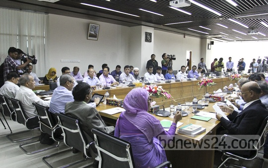 The Election Commission hosts a dialogue with journalists from radio and TV stations on Thursday. Photo: asif mahmud ove