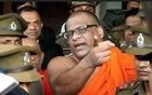 Picture of extremist Buddhist monk Gnanasara Thera General Secretary of Bodu Bala Sena (Buddhist Force Army)