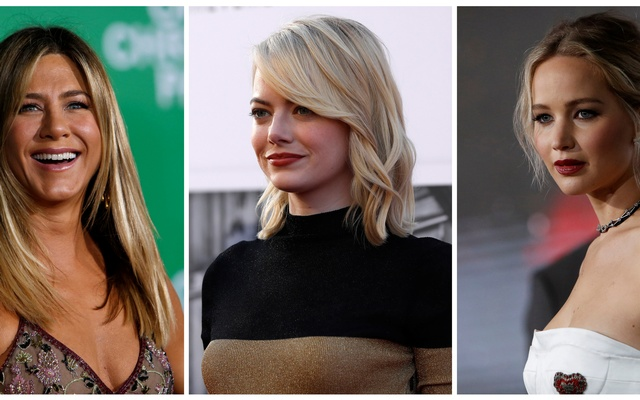 A combination photo shows (from left) actors Jennifer Aniston, Emma Stone and Jennifer Lawrence in Los Angeles, California US in Dec 7, 2016, Aug 6, 2017 and Dec 14, 2016 respectively. Reuters