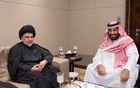 File Photo: Saudi Crown Prince Mohammed bin Salman meets with Iraqi Shia leader Muqtada al-Sadr in Jeddah, Saudi Arabia Jul 30, 2017. Saudi Royal Court via Reuters