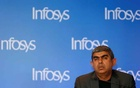 Vishal Sikka attends a news conference in Mumbai, India, February 13, 2017.