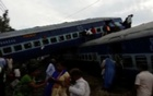 Derailed carriages of Kalinga-Utkal express train are seen in Khatauli, Uttar Pradesh, India in this still taken from video August 19, 2017. ANI via Reuters