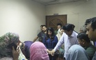 Actor Alamgir and actress Mousumi are seen among film stars and relatives who rushed to United Hospital where Bangla film icon Razzak died on Monday.