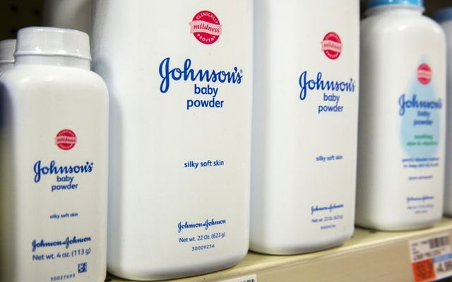 Johnson's Baby Powder on a shop shelf. Reuters