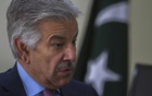 FILE PHOTO: Khawaja Asif speaks during an interview with Reuters at his office in Islamabad March 6, 2014.
