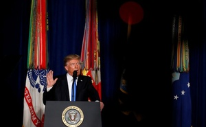 U.S. President Donald Trump announces his strategy for the war in Afghanistan during an address from Fort Myer, Virginia, U.S., August 21, 2017 Reuters