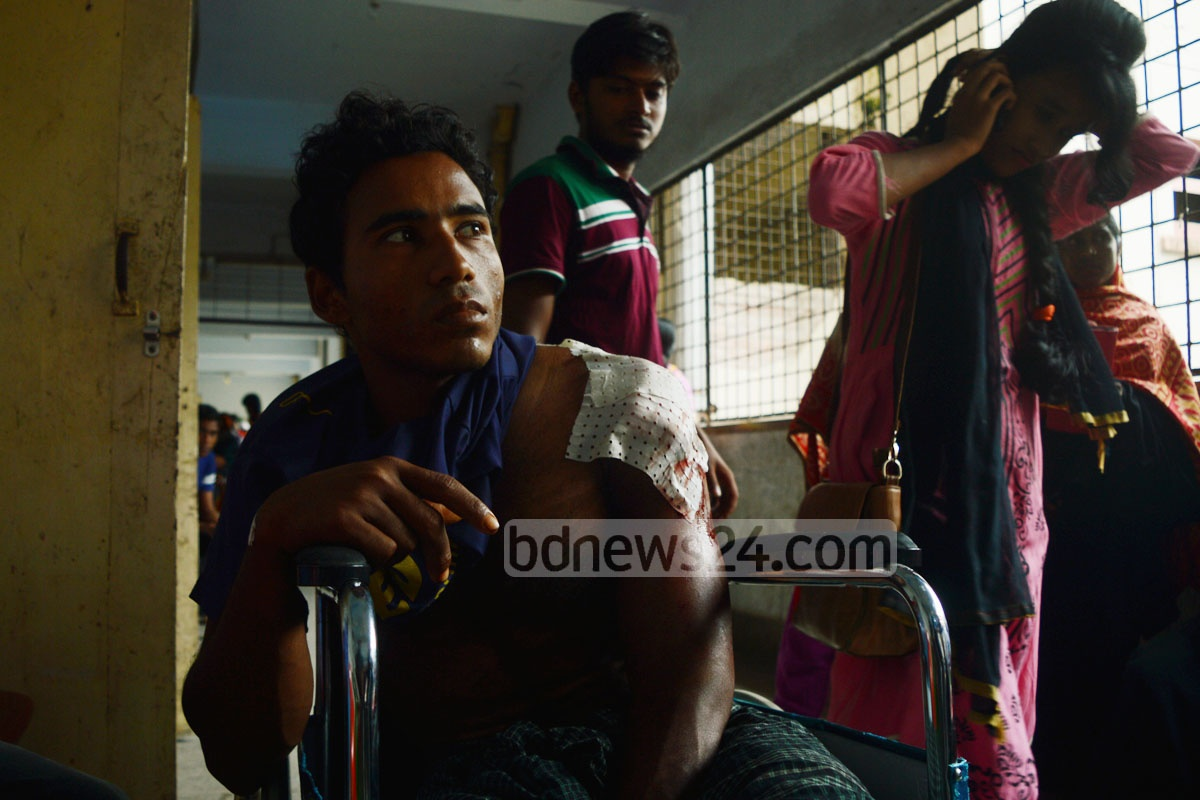 A Rohingya man, shot during Friday's attacks on Myanmar's Rakhine state, managed to cross the border into Bangladesh and got himself admitted to the Chittagong Medical College Hospital on Saturday.