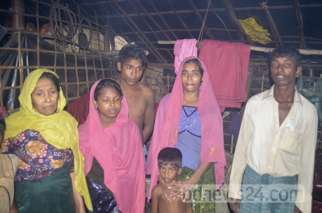 Myanmar Rohingyas flee for Bangladesh as fresh violence erupted on Friday in the country's Rakhine state. Photo taken on Saturday at a refugee camp in Bangladesh's Cox's Bazar.