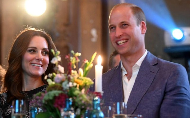 Britain's Prince William, the Duke of Cambridge and his wife Princess Kate, the Duchess of Cambridge, attend a reception at Claerchens Ballhaus, in Berlin Germany, July 20, 2017. Reuters