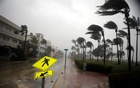Heavy wind is seen along Ocean Drive in South Beach as Hurricane Irma arrives at south Florida, in Miami Beach, Florida, US, September 10, 2017. Reuters