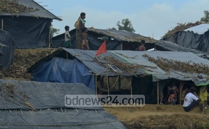 Rohingyas fleeing violence in Myanmar built temporary residences on the Balukhali Hill in Cox's Bazar's Ukhia. File Photo: Mostafigur Rahman