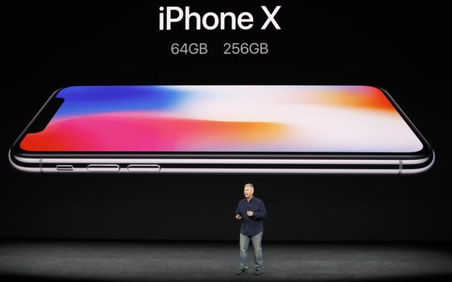 Apple Senior Vice President of Worldwide Marketing, Phil Schiller, introduces the iPhone X during a launch event in Cupertino, California, U.S. September 12, 2017. Reuters