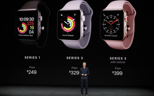 Jeff Williams, Apple COO, talks about the Apple Watch Series 3. Reuters