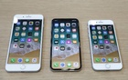 iPhone 8 Plus, iPhone X and iPhone 8 models are displayed during an Apple launch event in Cupertino, California, U.S., September 12, 2017.