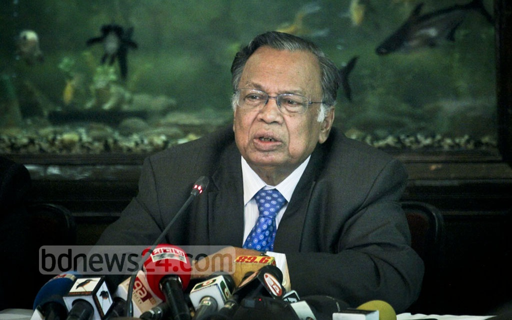 Foreign Minister AH Mahmood Ali briefs the media on Thursday about Prime Minister Sheikh Hasina's New York tour to attend the 72nd UN General Assembly. Photo: asif mahmud ove