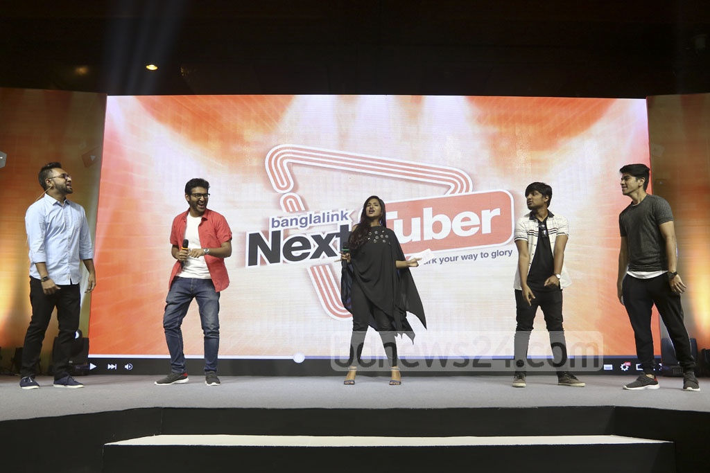 Mobile operator Banglalink launched its talent hunt for video content producers 'Next Tuber' on Monday at a press briefing at Dhaka's Sonargaon Hotel. Photo: abdul mannan