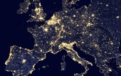 A satellite view of nighttime Europe. Source: NASA/Reuters
