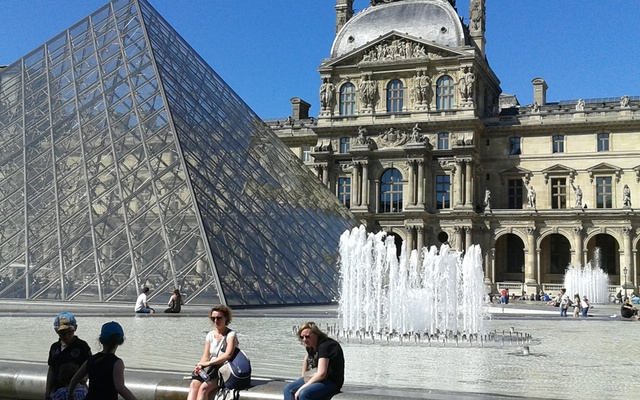 The Louvre from outside. Photo by author