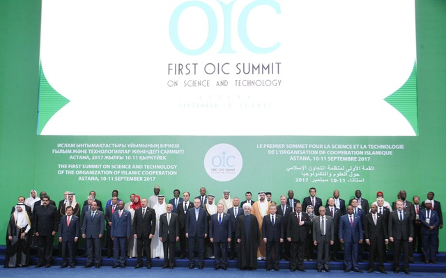 File Photo: Leaders and representatives of the Organization of Islamic Cooperation (OIC) member states pose for a group photo during the Kazakhstan Summit summit, in Astana, Kazakhstan Sept 10, 2017. Miraflores Palace Handout via Reuters