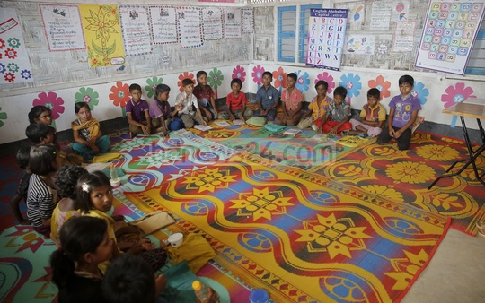 The ​Rohingya children ​attend schools ​at refugee camps​ ​in​ Cox's Bazar, Bangladesh​. ​They will continue up to grade three at these schools​ set up jointly by several NGOs, with no option for further studies.​​ ​The photo is taken from Kutupalong camp. ​Photo: mostafigur rahman