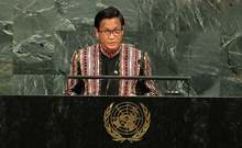 Myanmar Vice President Henry Van Thio addresses the 72nd United Nations General Assembly at UN headquarters in New York, US, Sept 20, 2017. Reuters