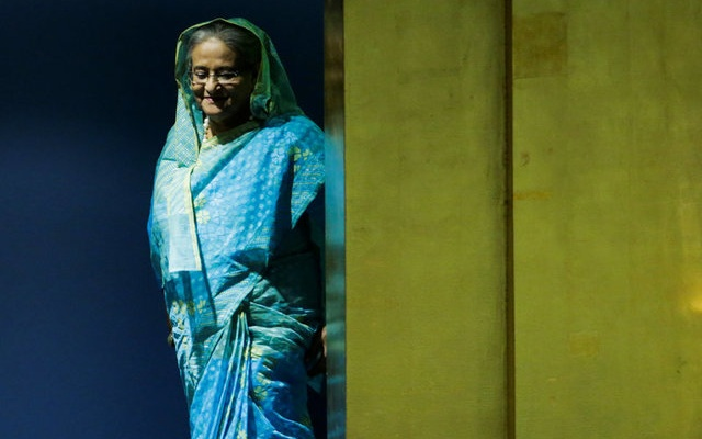 Bangladesh Prime Minister Sheikh Hasina arrives to address the 72nd United Nations General Assembly at the U.N. headquarters in New York, U.S., September 21, 2017. Reuters