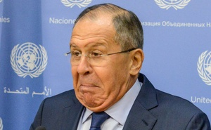 Russia's Foreign Minister Sergey Lavrov delivers remarks at a news conference at the 72nd United Nations General Assembly at UN headquarters in New York City, US, September 22, 2017. Reuters