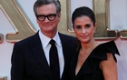 Cast member Colin Firth arrives with his wife Livia Giuggioli for the world premiere of
