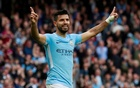 Premier League - Manchester City vs Crystal Palace - Etihad Stadium, Manchester, Britain - September 23, 2017 Manchester City's Sergio Aguero celebrates scoring their fourth goal Action Images via Reuters/Jason Cairnduff