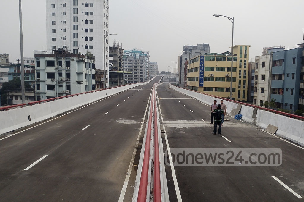 Dhaka's Mouchak-Moghbazar flyover is all set for inauguration after a six-year construction phase. Photo: abdul mannan